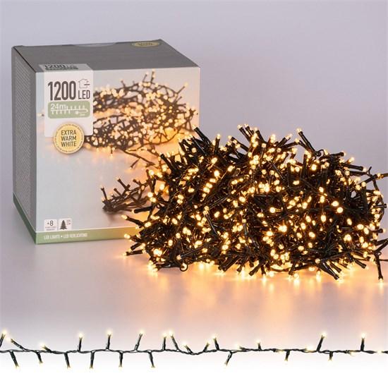 Weihnachtsbaumschmuck LED Cluster Lichterkette 24m warmweiß mit 1200 LEDs