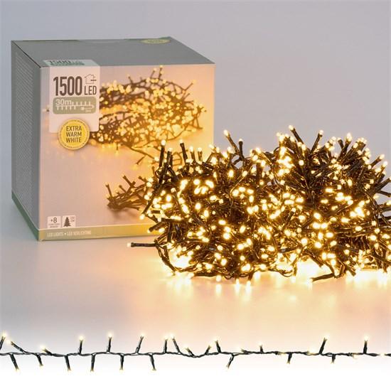 Weihnachtsbaumschmuck Cluster Lichterkette 30m warmweiß 1500 LED