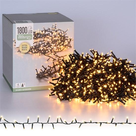 Weihnachtsbaumschmuck Cluster Lichterkette 36m warmweiß 1800 LED