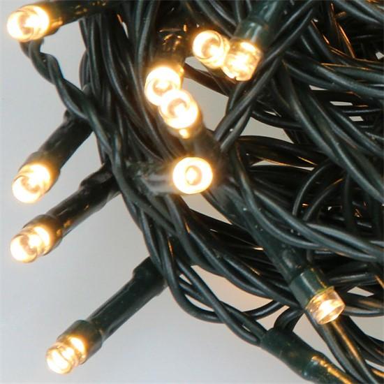 Weihnachtsbaumschmuck LED Lichterkette für Weihnachten 11m warmweiß mit 560 LEDs