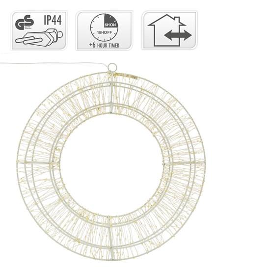 Weihnachtsdeko LED Kranz Ø 38cm warmweiß mit 900 LED's inkl. Timer