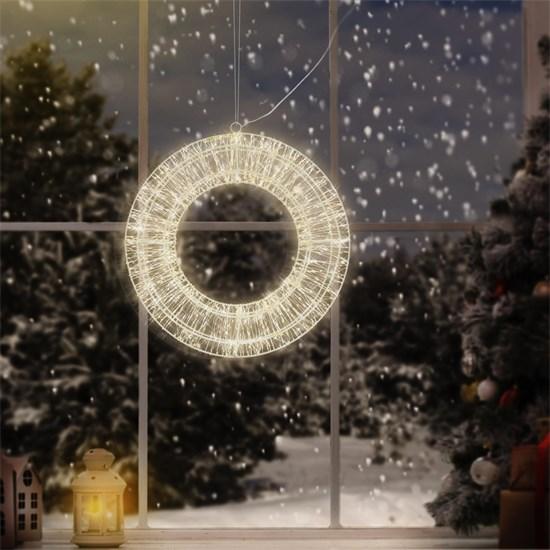 Weihnachtsdeko LED Kranz Ø 58cm warmweiß mit 1800 LED's inkl. Timer