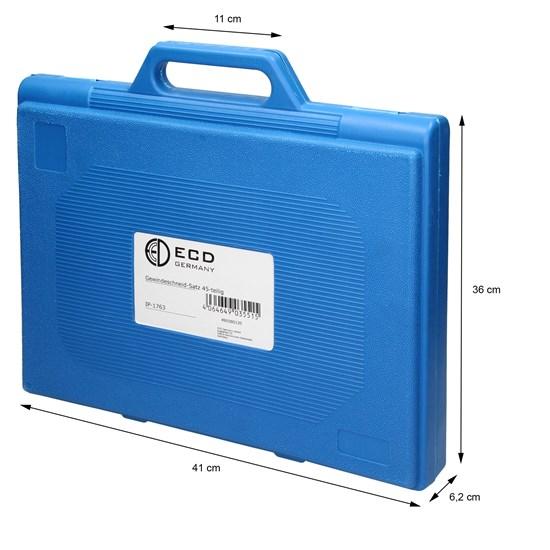 Gewindeschneide Set 45-Teilig aus Stahl im Koffer