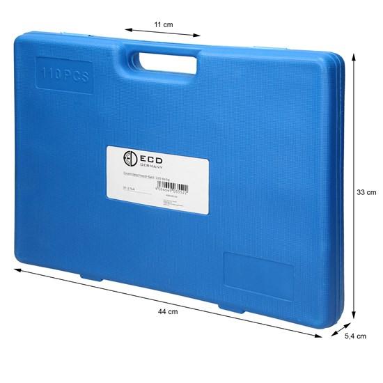 Gewindeschneide Set 110-Teilig aus Stahl im Koffer