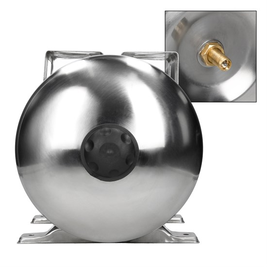 Edelstahl Membrankessel 24 L mit EPDM Membran 1 Zoll Anschluss