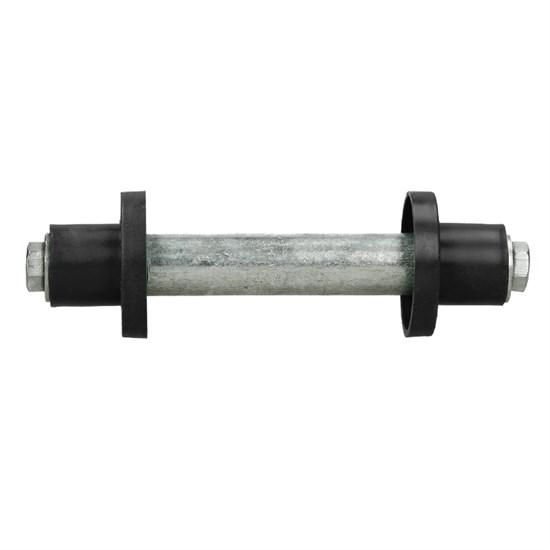 Schubkarrenrad Vollgummi 390 mm Schwarz