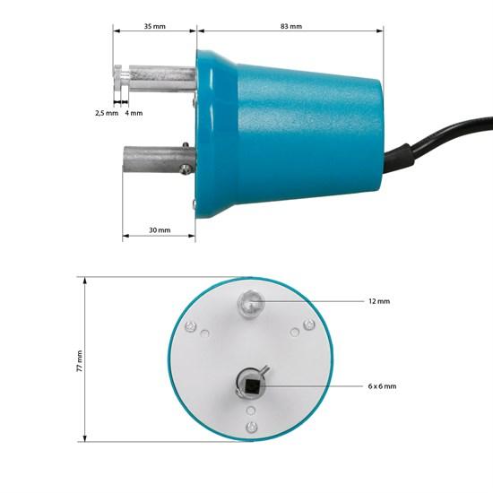 Elektro-Grillmotor 230 Volt inkl. Grillspieß-Fleischklammern 2 Stück