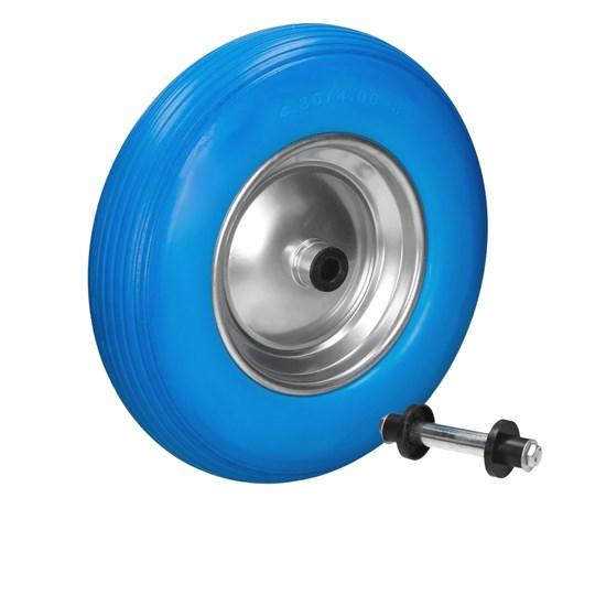 Schubkarrenrad Vollgummi PU 4.80/4.00-8 Blau 390 mm