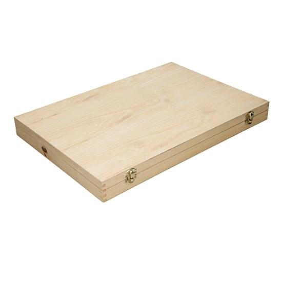 Drechselmesser Satz 8-Teilig mit Holzgriff aus HSS Stahl in Holzkasten
