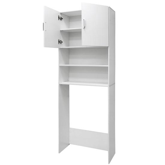Waschmaschinenschrank 190 x 62.5 cm, Weiß, mit 2 Türen