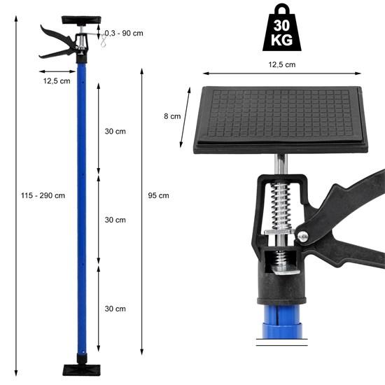 Einhandstütze bis 290 cm mit Bedienungsanleitung