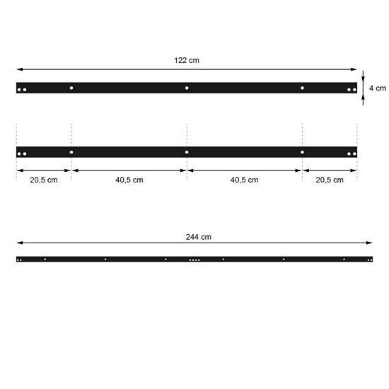 Schiebetürbeschlag Montage-Set 244 cm