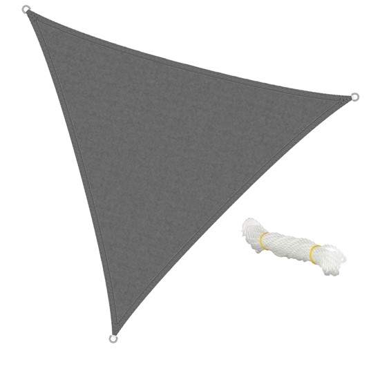 Sonnensegel Dreieck 3,6 x 3,6 x 3,6m Grau