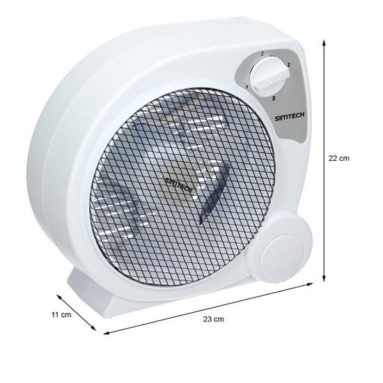 Tischventilator 20 W 3 Stufen Weiß