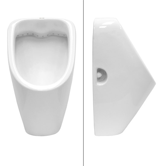 Urinal mit Zulauf von oben aus Keramik Weiß