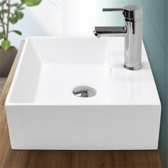 Waschbecken 415 x 360 x 130 mm Keramik Weiß