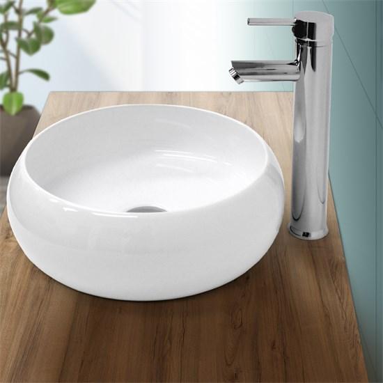 Waschbecken 350 x 120 mm Keramik Weiß