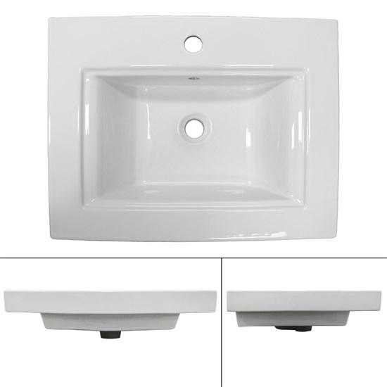 Waschbecken 605 x 465 x 160 mm Keramik Weiß