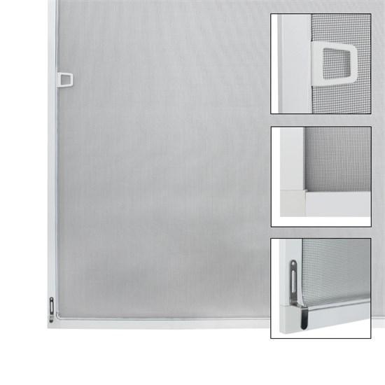 Fliegengitter mit Rahmen aus Aluminium 80x100 cm Weiß