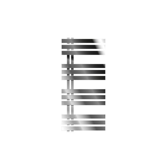 "Designheizkörper ""Iron M"" mit Heizstab 600W Chrom 500 x 1000 mm"