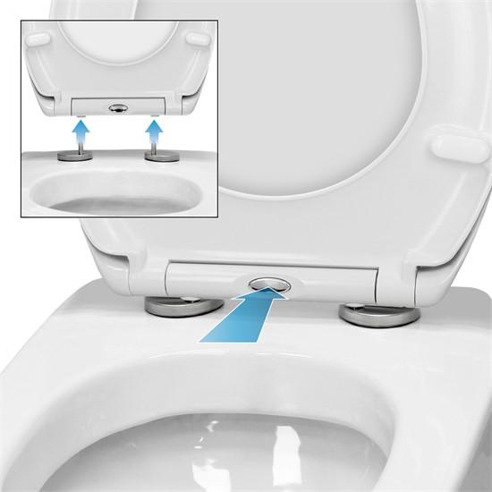 Toilettendeckel Bambus schwarz Softclose mit Easy Fix