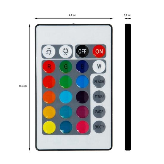 LED-Fernbedienung mit 24 Tasten für RGB-Streifen inkl. Empfänger