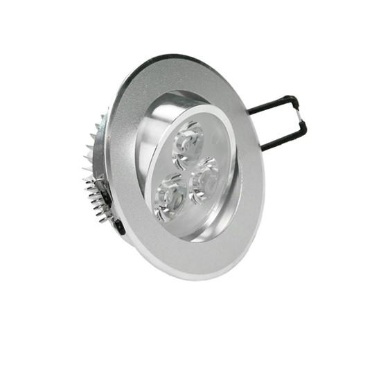 LED-Einbaustrahler, Warmweiß, 3W Rund