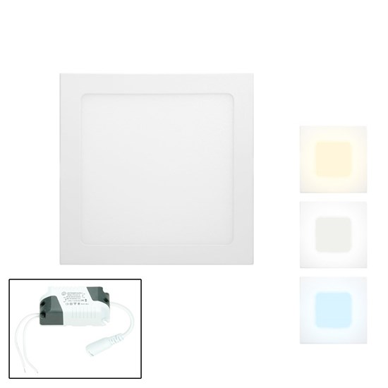 LED-Einbaupanel 22 x 22 cm 18 Watt neutralweiß