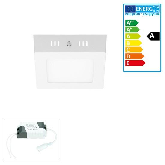 LED-Deckenlampe 12W, Warmweiß, Eckig