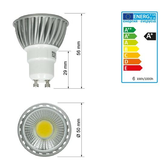 led reflektor spot gu10 6 watt ausf cob kaltwei. Black Bedroom Furniture Sets. Home Design Ideas