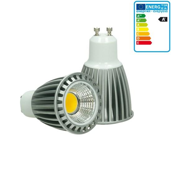 LED-Spot GU10 COB, Kaltweiß, 9W, dimmbar