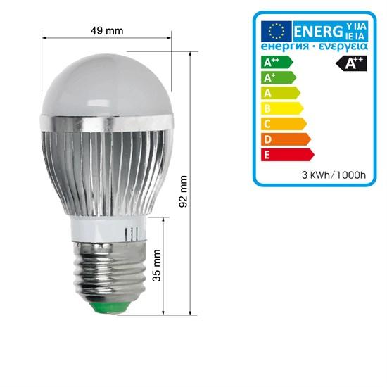 LED Birne E27 3 Watt RGB