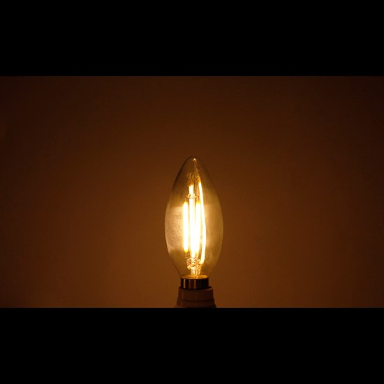 LED Kerze Filament E14 2W Warmweiß 2800K