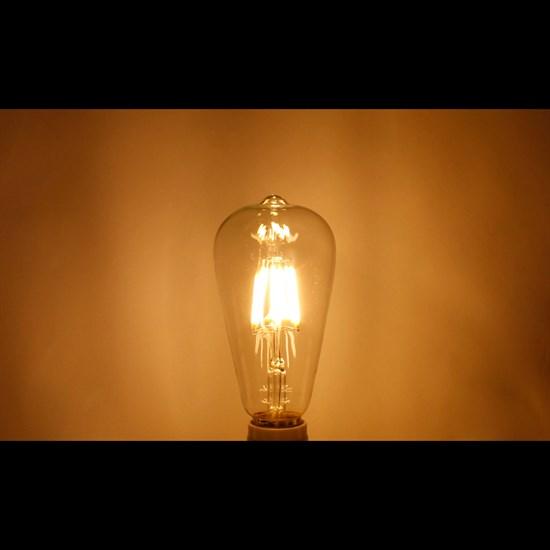 LED-Lampe Birne / Kolben Filament E27 6W Warmweiß