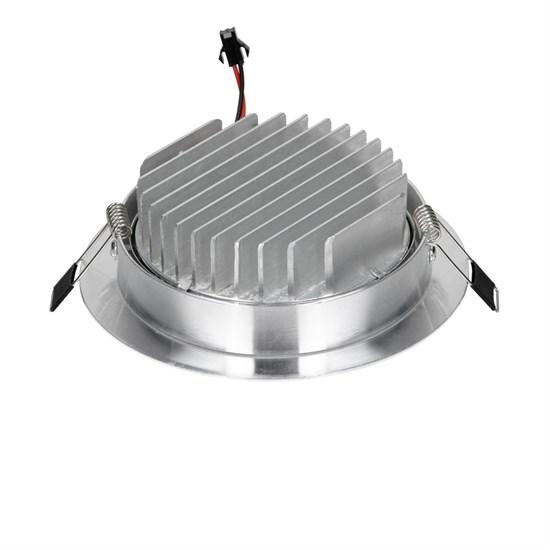 LED Einbaustrahler COB 9W Silber aus Aluminium Kaltweiß 6000K