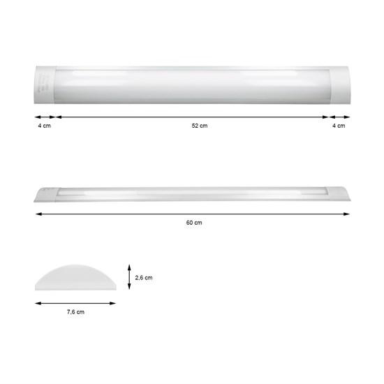 LED Deckenleuchte Warmweiß 18 Watt 60 cm