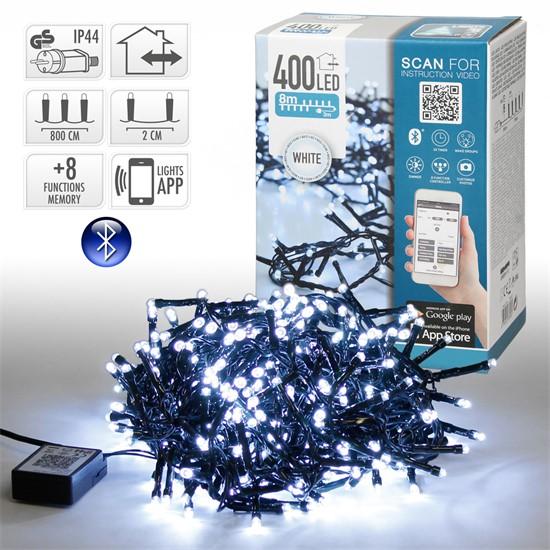 LED-Lichterkette 8 m, Weiß, 400 LEDs