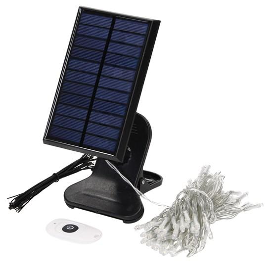 ML-Design Solar LED-Lichterkette 7 m, warmweiß, mit Fernbedienung
