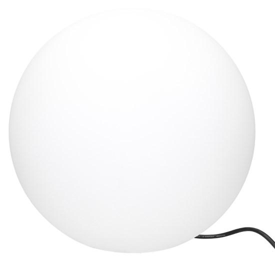 Kugelleuchte mit LED E27 Ø 50 cm steinoptik aus Kunststoff ML-Design