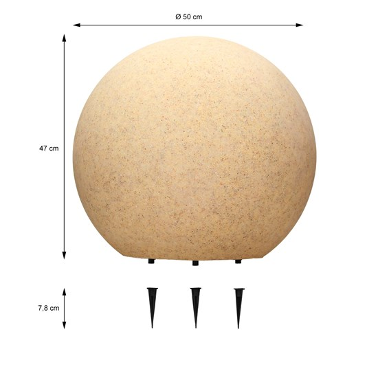 Kugelleuchten im Set Ø 30/40/50 cm in weiß aus Kunststoff ML-Design