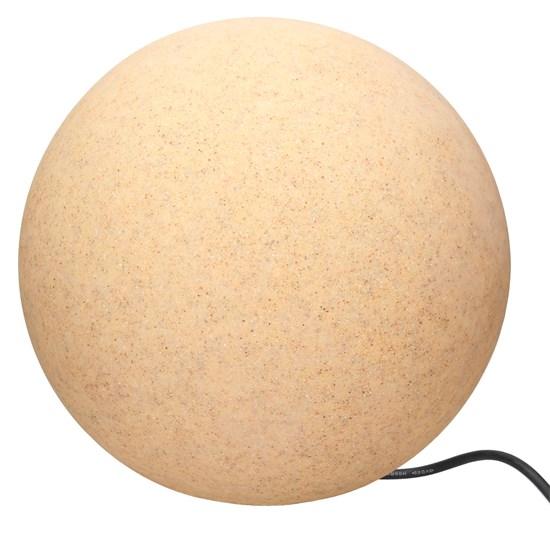 Kugelleuchte mit LED E27 Ø 40 cm steinoptik aus Kunststoff ML-Design