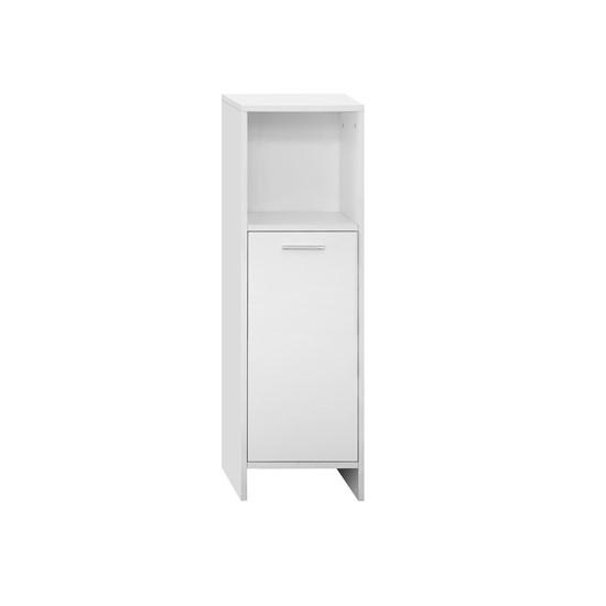 Badezimmerschrank 30x81x30 cm weiß aus MDF Spanplatte ML-Design