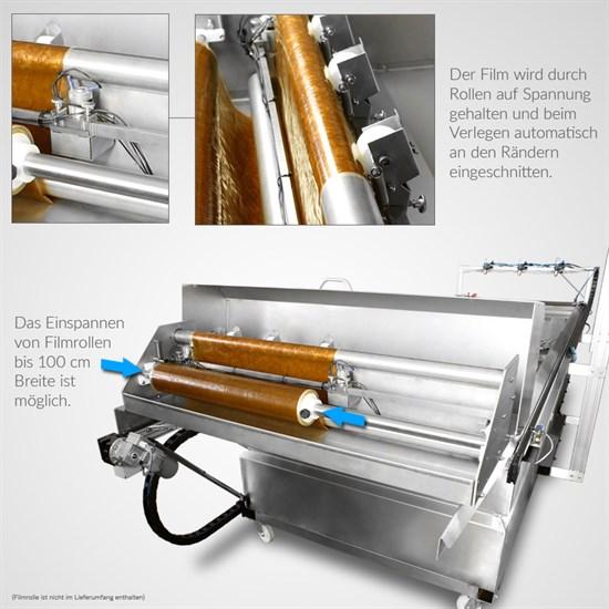 Wassertransferdruck Vollautomatische Filmauflegeeinheit für Medium Dipper | 100 x 80 cm