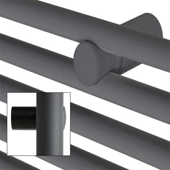 Badheizkörper Sahara 500x1200 mm Anthrazit gebogen mit Mittelanschluss