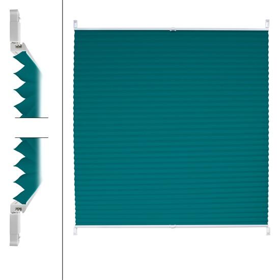 Plissee petrol, 110x150 cm, inkl. Befestigungsmaterial