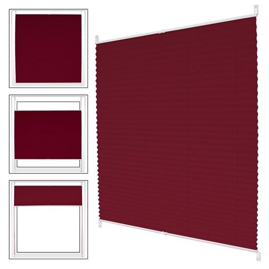 Plissee bordeaux, 50x100 cm, inkl. Befestigungsmaterial