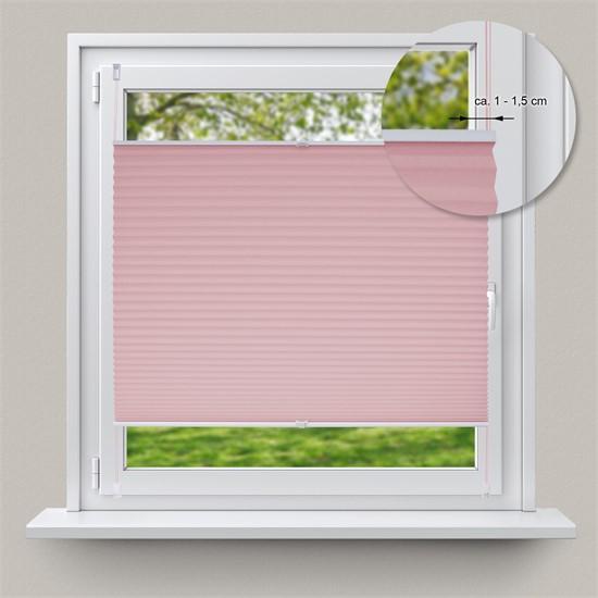 Plissee rosa, 50x150 cm, inkl. Befestigungsmaterial