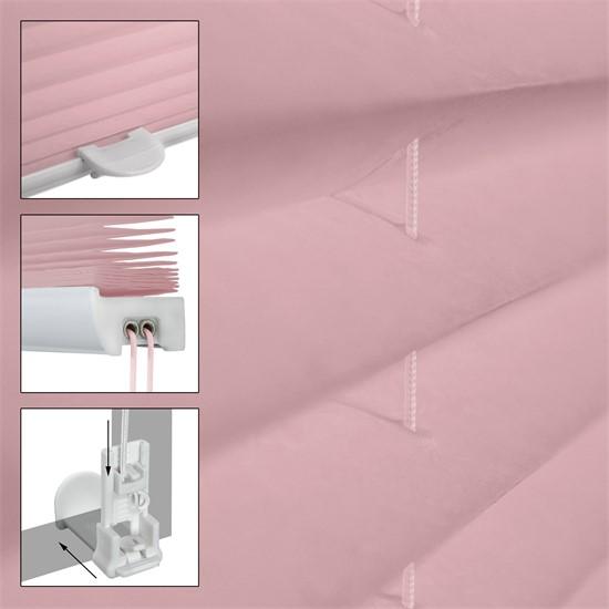 Plissee rosa, 80x200 cm, inkl. Befestigungsmaterial