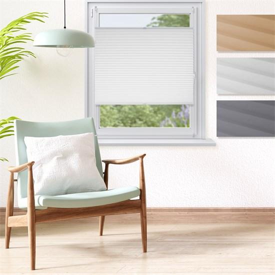 Plissee weiß, 120x150 cm, inkl. Befestigungsmaterial