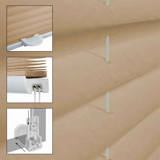 Plissee Creme, 120x150 cm, inkl. Befestigungsmaterial